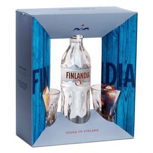 Finlandia Kokos 0,7l 37,5% + 2x sklo GB