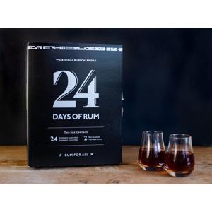 Rumový kalendář 2021 24×0,02l 40% + 2x sklo GB