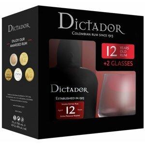 Dictador 12y 0,7l 40% + 2x sklo GB