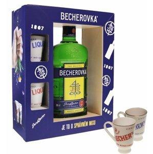 Becherovka 0,5l 38% + 2x sklo GB