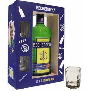 Becherovka 0,7l 38% + 2x sklo GB