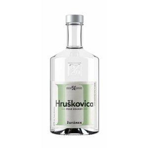 Hruškovica Žufánek 0,5l 45% Etiketa