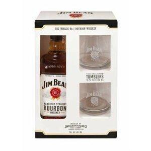 Jim Beam White 0,7l 40% + 2x sklo GB
