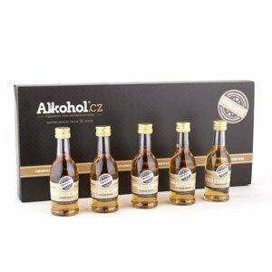 Degustační sada Gold Cock whisky 5×0,04l