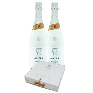Anna de Codorníu Blanc de Blancs Brut Reserva 2×0,75l 11,5% + 2x sklo GB