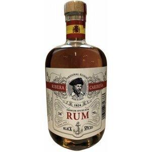 Ribera Caribeňa Black Spiced  0,7l 34%