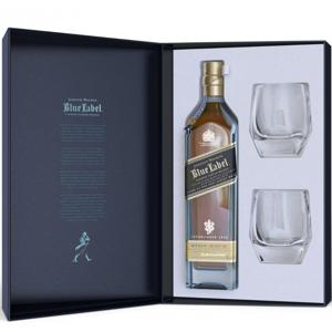 Johnnie Walker Blue Label 60y 0,7l 40% + 2x sklo GB