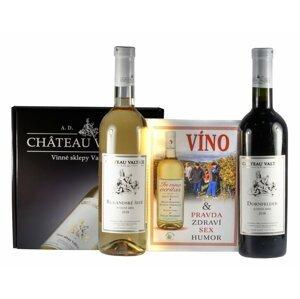 Chateau Valtice In Vino Veritas Pozdní sběr 2018 2×0,75l GB + Kniha
