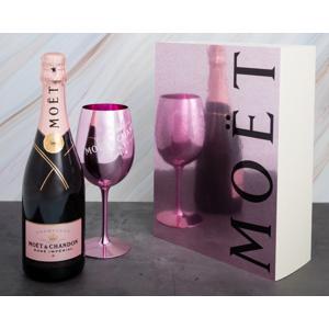Moët & Chandon Impérial Rose 0,75l 12,5% + Růžová sklenice