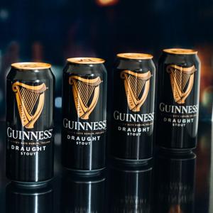Guinness Stout Draught 11° 0,44l 4,2% Plech - 3 + 1 zdarma