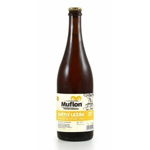 Muflon světlý ležák 11° 0,75l 4,5%