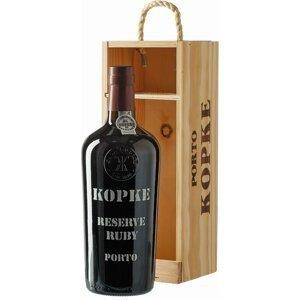 Kopke Reserve Ruby 0,75l 19,5% Dřevěný box