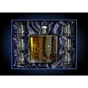 Swarovski Hruškovice zlatá 0,7l 50% + 6x sklo GB