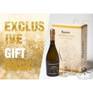 Riunite Prosecco Spumante Brut Gift Cream 0,75l 11% + 2x sklo GB