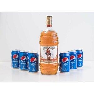 Captain Morgan Spiced Gold Barrel 1,5l + 6x cola
