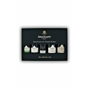 Grahams Mini Selection Pack 5×0,2l Dřevěný box