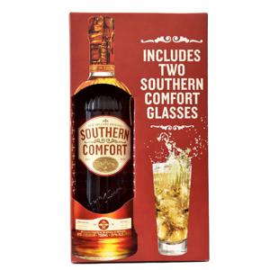 Southern Comfort 0,7l 35% + 2x sklo GB