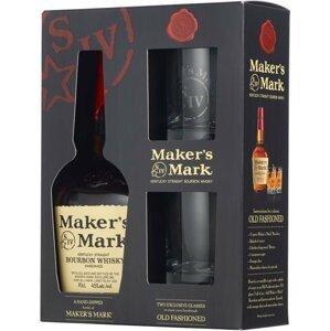 Maker's Mark 0,7l 45% + 2x sklo GB