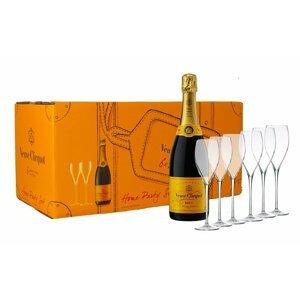 Veuve Clicquot Party Set Brut 6×0,75l 12% + 6x sklo GB
