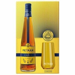 Metaxa 5* 0,7l 38% + 2x sklo GB