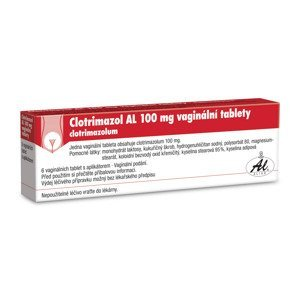 Clotrimazol AL 100 6 vaginálních tablet + aplikátor