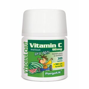 Pargavit Vitamin C pro děti meloun 60 tablet