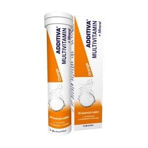 Additiva Multivitamin + Mineral pomeranč 20 šumivých tablet