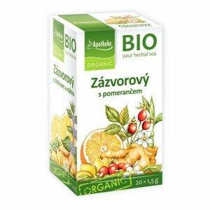 Apotheke BIO Zázvorový čaj s pomerančem nálevové sáčky 20x1,5 g