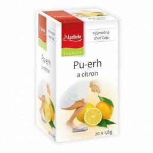 Apotheke Pu-erh a citron čaj nálevové sáčky 20x1,8 g