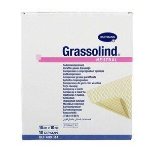 Grassolind Neutral Kompres sterilní 10 x 10 cm 10 ks
