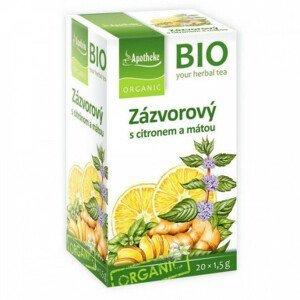 Apotheke BIO Zázvor s citronem a mátou nálevové sáčky 20x1,5 g
