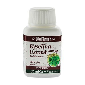 Medpharma Kyselina listová 800 mcg 37 tablet