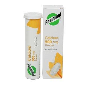 Pharmavit Calcium 500 mg 20 šumivých tablet