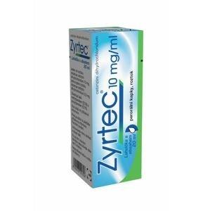 Zyrtec 10 mg/ml perorální kapky, roztok 20 ml