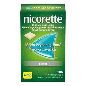 Nicorette Classic Gum 4 mg léčivá žvýkací guma 105 žvýkaček