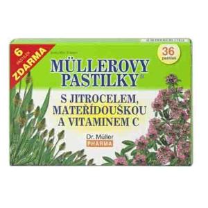 Dr.Müller Müllerovy pastilky s jitrocelem a mateřídouškou 36 pastilek