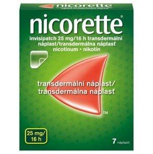 Nicorette Invisipatch 25 mg/16 h transdermální náplast 7 ks