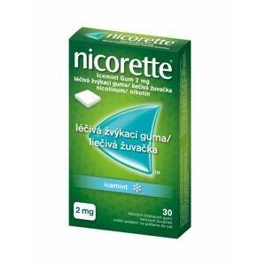 Nicorette Icemint Gum 2 mg léčivá žvýkací guma 30 žvýkaček