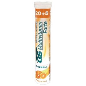 GS Multivitamin s minerály Forte pomeranč 20+5 šumivých tablet