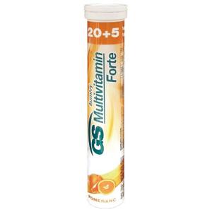 GS Multivitamin Forte pomeranč 20+5 šumivých tablet