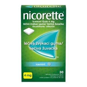 Nicorette Icemint Gum 4 mg léčivá žvýkací guma 105 žvýkaček