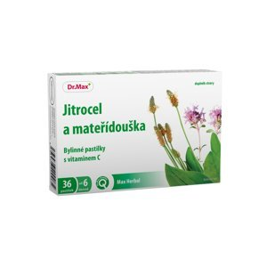 Dr.Max Herbal Jitrocel a mateřídouška bylinné pastilky 36 pastilek