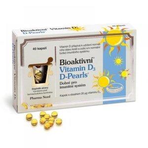 Bioaktivní Vitamin D3 D-Pearls 40 kapslí