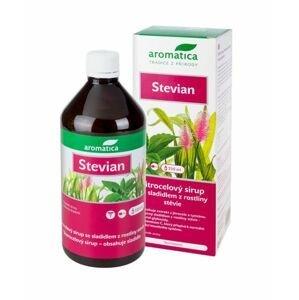 Aromatica Stevian Jitrocelový sirup se sladidlem z rostliny stévie 210 ml