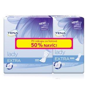 Tena Lady Extra inkontinenční vložky 20 ks + 50 % navíc