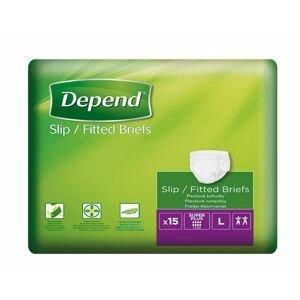 Depend Slip Super Plus L inkontinenční plenkové kalhotky 15 ks