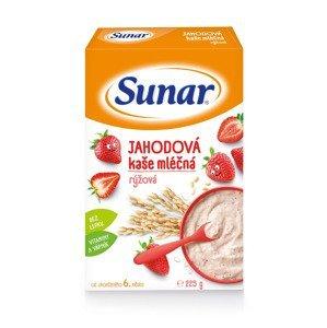 Sunar Jahodová kaše mléčná rýžová 225 g