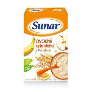 Sunar Ovocná kaše mléčná s 8 cereáliemi 225 g