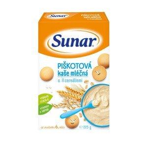 Sunar Piškotová kaše mléčná s 8 cereáliemi 225 g