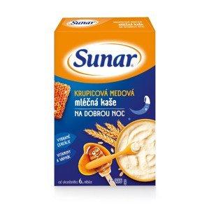 Sunar Krupicová medová mléčná kaše na dobrou noc 225 g
